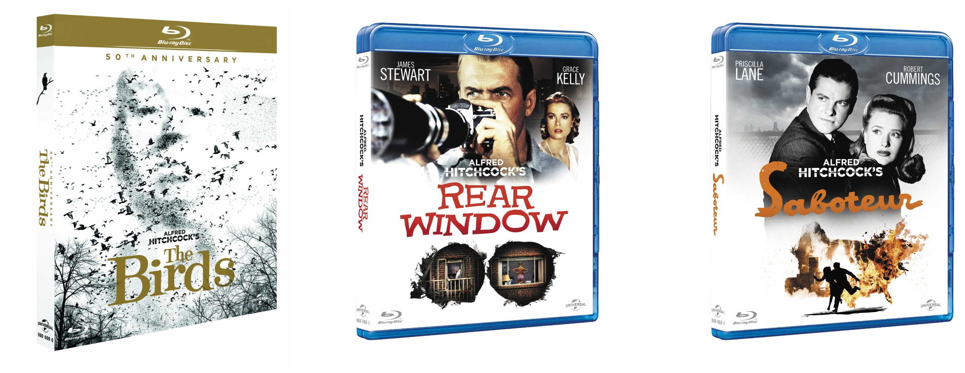 monday blu e s and dvd hope lies at 24 frames per second miscellaneous hitchcock blu ray s the birds rear window and saboteur are all released on blu ray today they re individual repackaging s of the discs